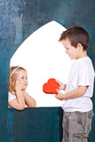 Happy kids playing love Stock Photo