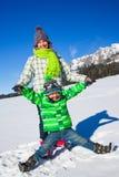Happy kids playing winter Stock Image