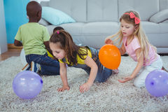 Free Happy Kids Playing With Balloons Royalty Free Stock Photos - 61438528