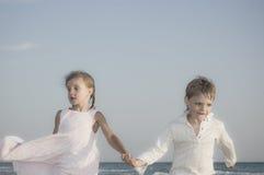 Happy kids running Stock Photo