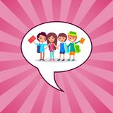 Back to School Kids Isolated illustration Royalty Free Stock Image