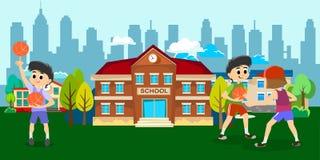 Happy kids school activity  Royalty Free Stock Photos