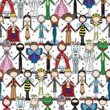 Happy kids seamless pattern Stock Image