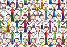 Happy kids seamless pattern Royalty Free Stock Image