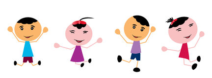 Happy kids Royalty Free Stock Image