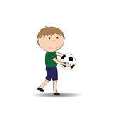 Happy kids and soccer Stock Photography
