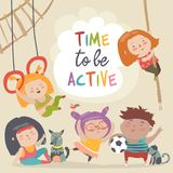 Happy kids and sport. Time to be active Stock Photography