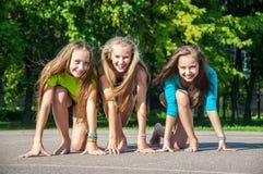 Happy kids sporting Royalty Free Stock Photo