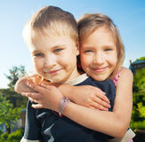 Happy kids at summer Royalty Free Stock Photography
