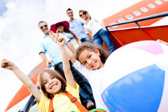 Happy kids on vacations Royalty Free Stock Photography