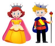 Happy king and queen. Illustration Royalty Free Stock Images