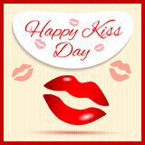 Happy Kiss Day Royalty Free Stock Photos