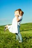 Happy kissing couple Royalty Free Stock Photo