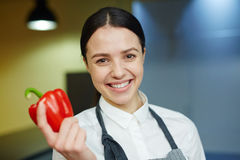 Happy kitchen staff Stock Photo