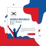Happy Korea Republic National Day Vector Template Design Illustration stock photos