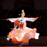 Happy Korean ethnic dancer Royalty Free Stock Photo