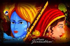 Happy Krishna Janmashtami background Royalty Free Stock Photo
