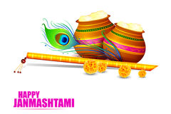 Happy Krishna Janmashtami Royalty Free Stock Photography