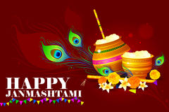 Happy Krishna Janmashtami Stock Image