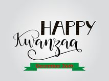 Happy Kwanzaa decorative greeting card. The celebration honors African heritage in African-American culture. Winter holidays. December 26th Stock Photos