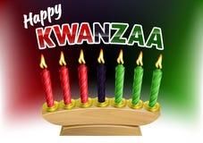 Happy Kwanzaa Design. A Happy Kwanzaa candles decoration holiday illustration Stock Photo