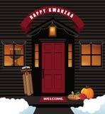 Happy Kwanzaa front door Stock Photos