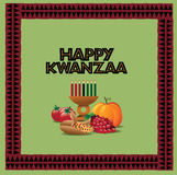 Happy Kwanzaa greeting card design Stock Photo
