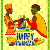 Happy Kwanzaa greetings for celebration of African American holiday festival  harvest Stock Photo