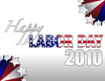 Happy Labor Day. 2010 sign with stars border over a gradient. vector file also available royalty free illustration