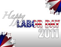 Happy Labor Day. 2011 sign with stars border over a gradient. vector file also available Royalty Free Stock Photography