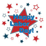 Happy labor day. With many stars isolated on white background.EPS file available Royalty Free Stock Photography