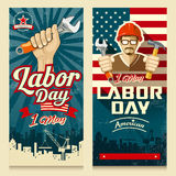 Happy Labor day american banner collections Royalty Free Stock Image