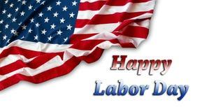 Happy Labor Day. American flag. Happy Labor Day stock photos