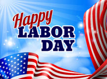 Happy Labor Day American Flag Banner Stock Images