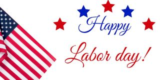 Happy Labor Day. American flag. Happy Labor Day. USA flag. American holiday stock illustration