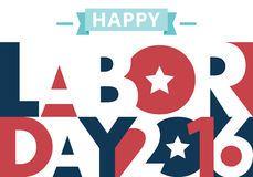 Happy Labor Day. American. text signs.  EPS 10 vector illustration for design. All in a single layer. Vector illustration. 2016 Stock Image