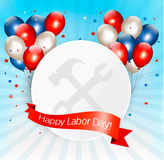 Happy Labor Day background with balloons. Vector Stock Photo