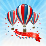 Happy Labor Day background with balloons. Vector Royalty Free Stock Images