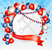 Happy Labor Day background with balloons. Royalty Free Stock Photography