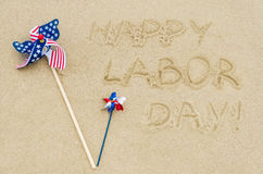 Happy Labor day background on the beach Royalty Free Stock Photo