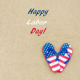 Happy Labor day background on the beach Royalty Free Stock Photography