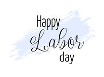 Happy Labor day. Background with blue grunge line stock illustration