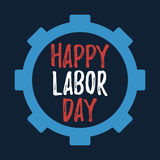Happy Labor Day banner and giftcard. Stock Photo