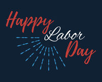 Happy Labor Day banner and giftcard. Stock Photography