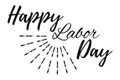 Happy Labor Day banner and giftcard. Royalty Free Stock Photography