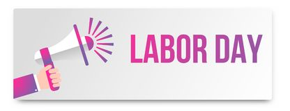Happy Labor Day banner. 1st May. Design template. Vector. Illustration Royalty Free Illustration