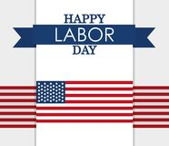 Happy labor day card. Happy labor dat card with united states flag vector illustration graphic design royalty free illustration