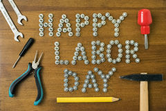 Happy labor day. Royalty Free Stock Image