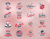 Happy Labor day emblems Royalty Free Stock Images