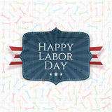 Happy Labor Day festive Label Stock Photo